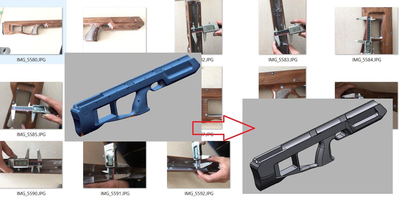 scan 3d báng súng
