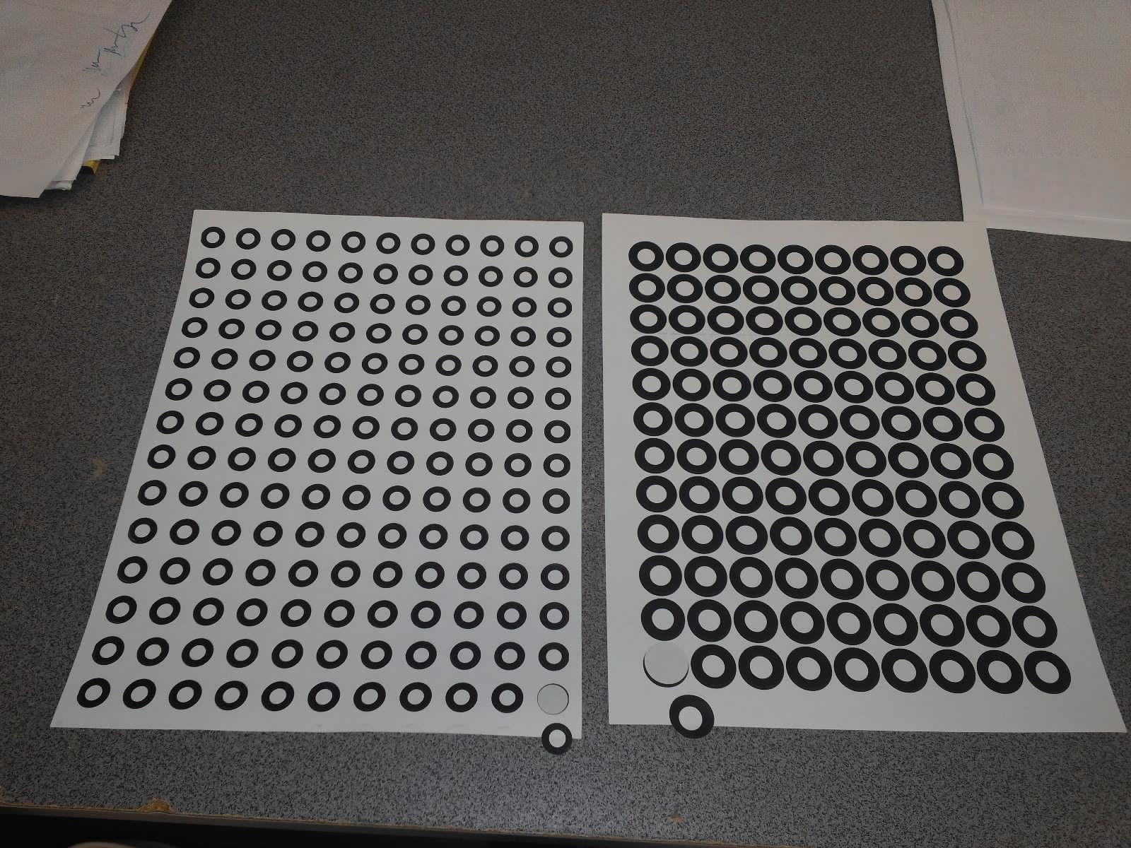 giấy dán điểm scan3d