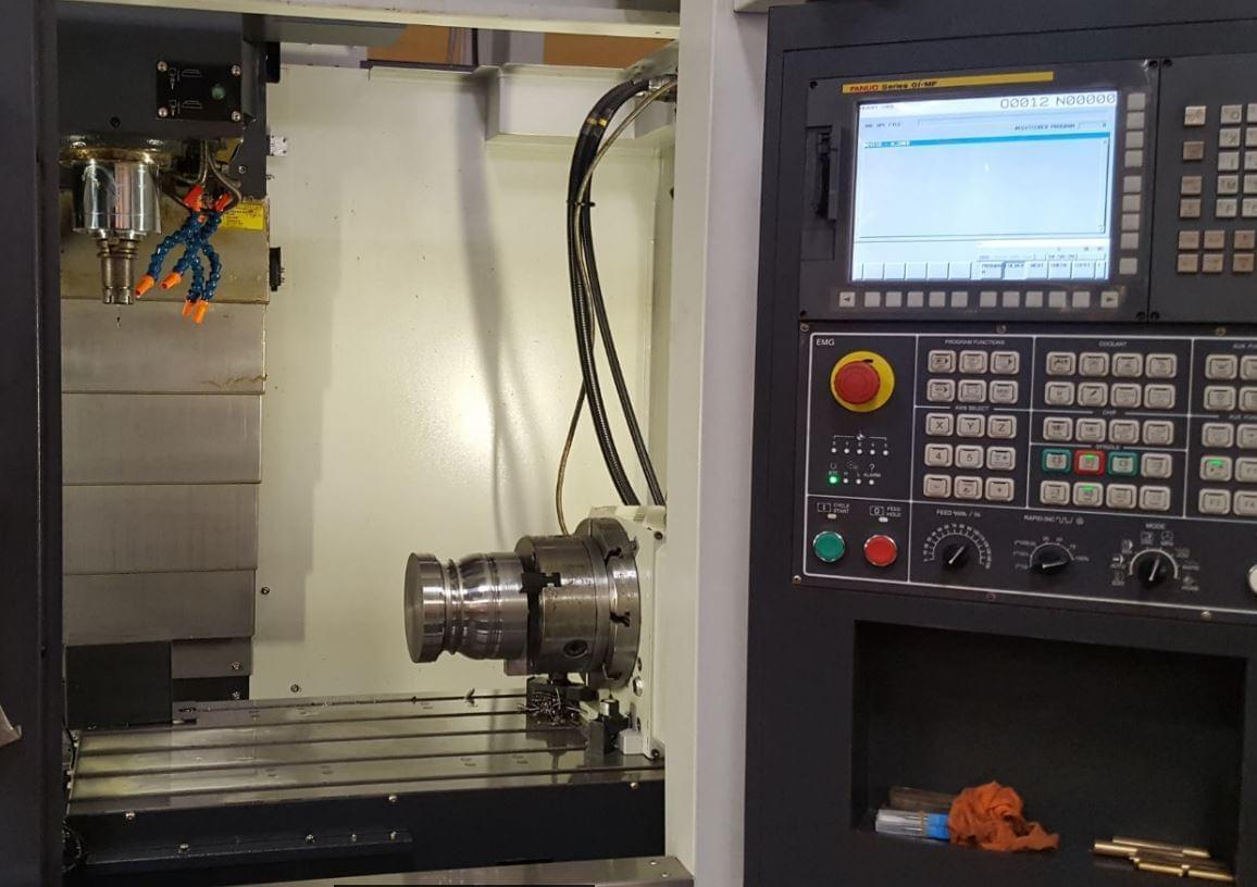 gá lô thép lên CNC 4 trục