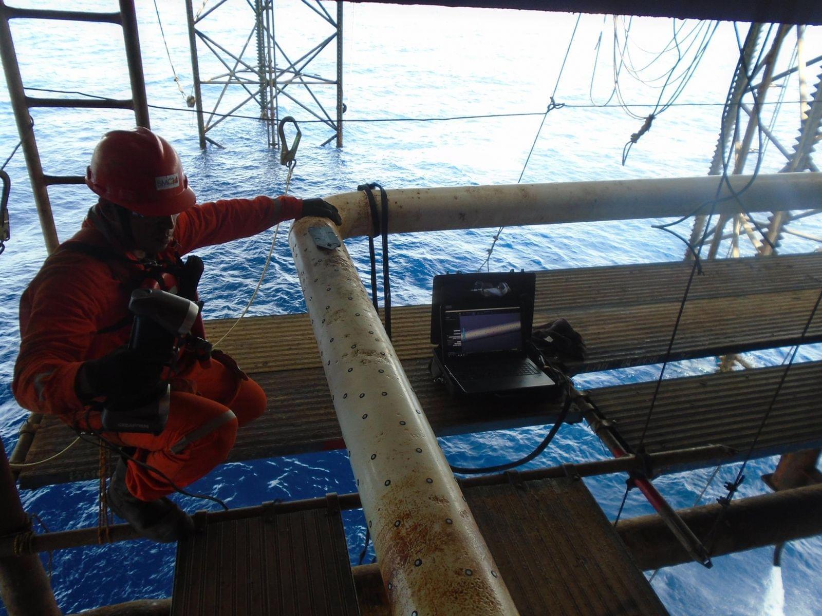 thuê đo quét 3d đường ống dầu khí
