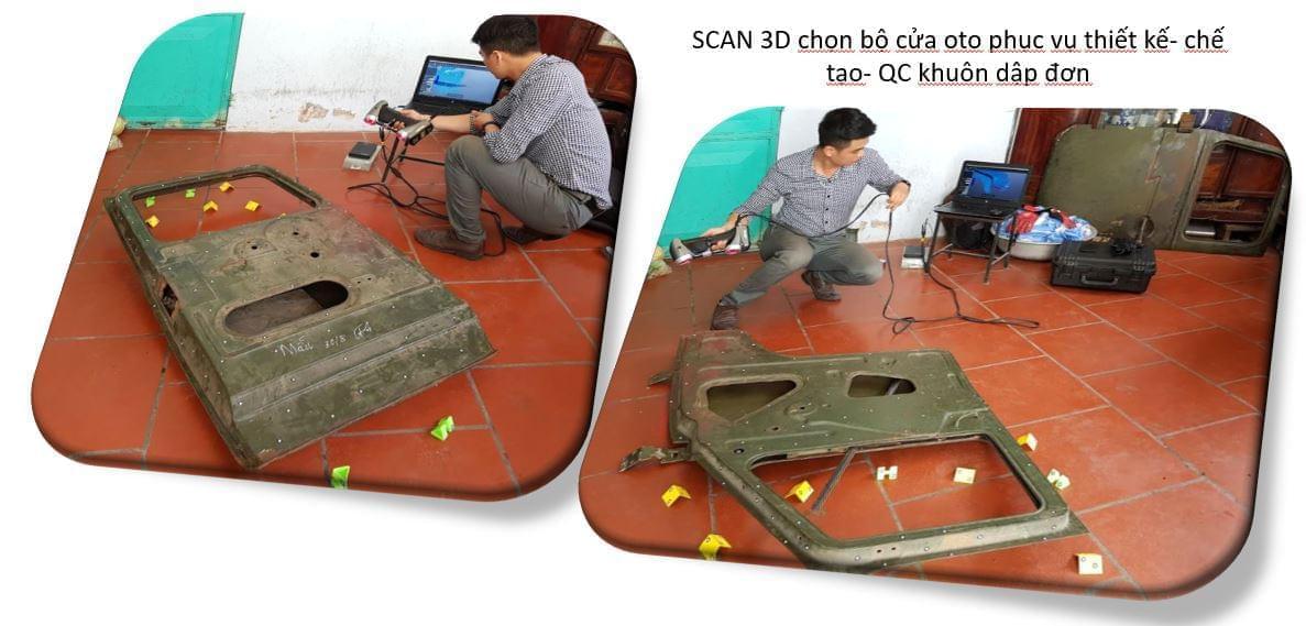 scan 3d chọn bộ cửa oto khuôn dập