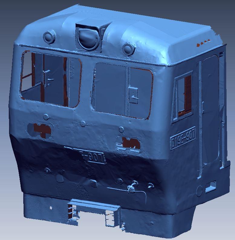 scan 3d tàu hỏa