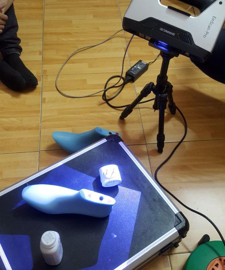scan 3d khuôn giầy
