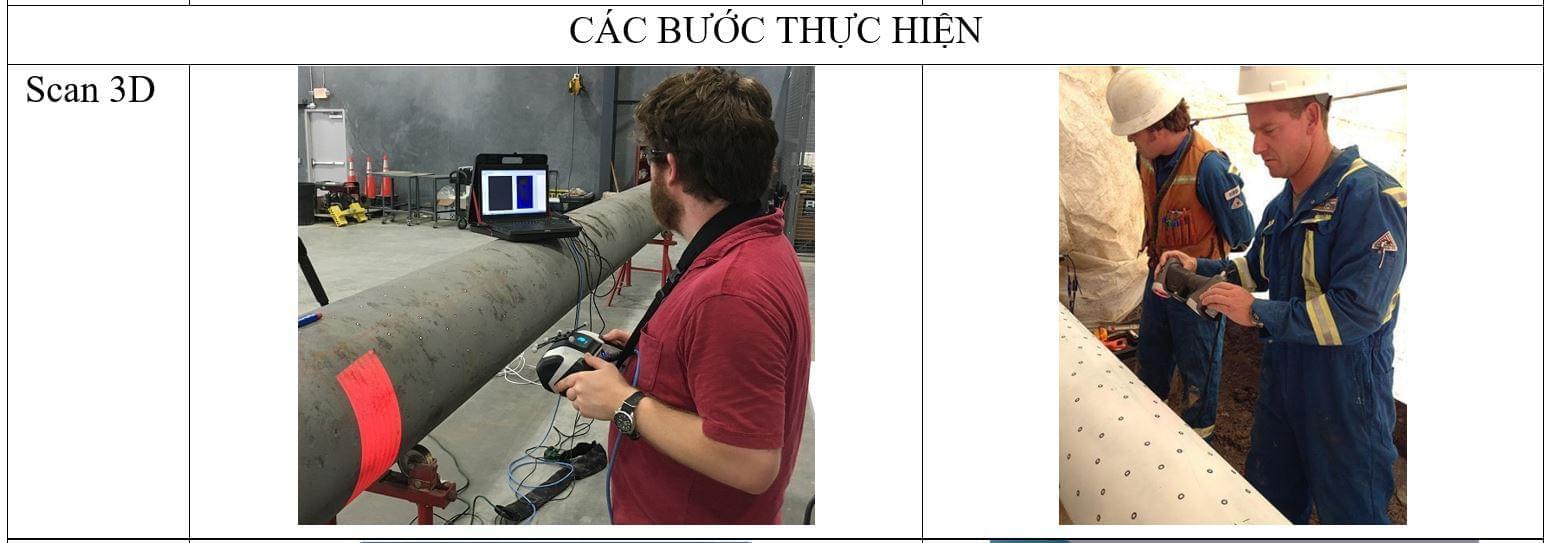 scan 3d đường ống