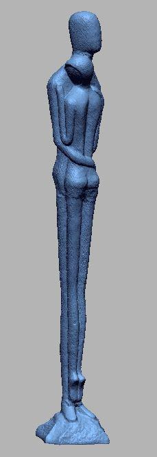 scan 3d tượng sắt