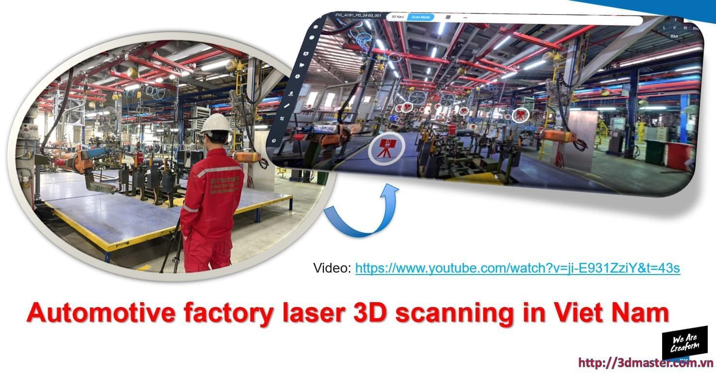 scan 3d nhà máy oto tại Việt Nam