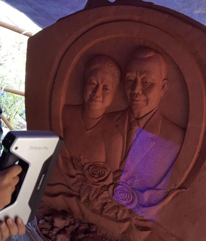 scan 3d tượng điêu khắc chân dung