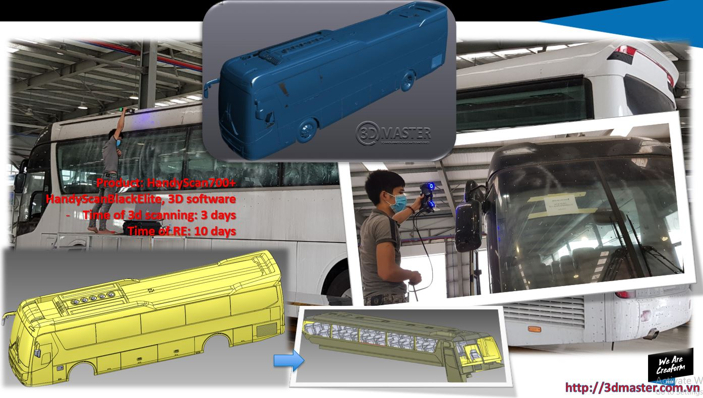 scan3d for 45-seat passenger car VN