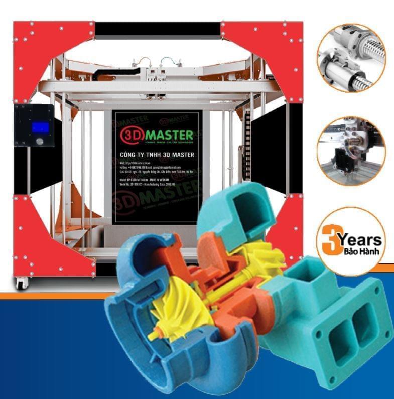 Máy in 3D FDM khổ 450mm(X)×450mm(Y)×350mm(Z)