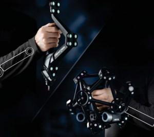 3D SCAN combines hand held CMM Handheld: METRASCAN 3D