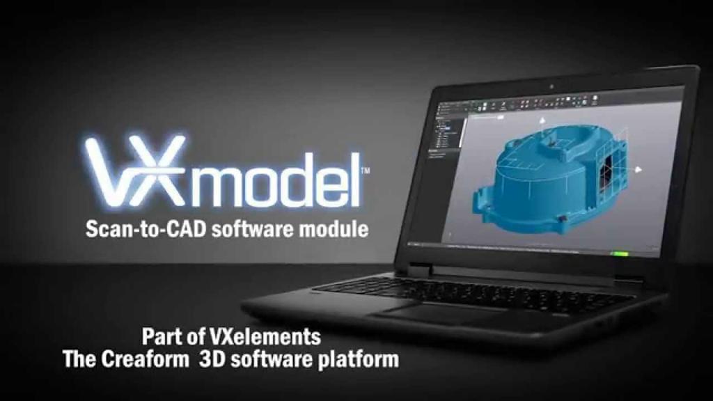 Software export Scan 3d to CAD Creaform VXmodel